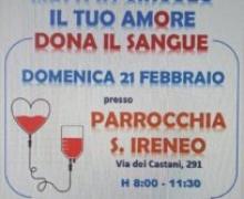 Domenica 21 febbraio: giornata della donazione del sangue