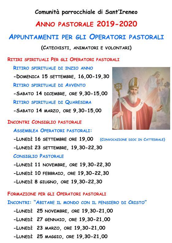 Calendario Esercizi Spirituali 2020.Sant Ireneo Parrocchia Centocelle Roma